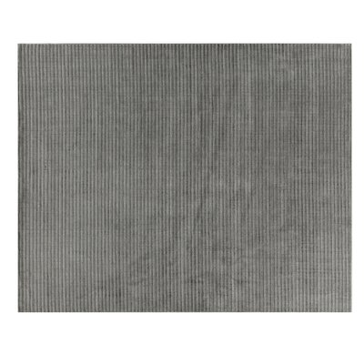 Vive Hand-Knotted Wool/Silk Gray/Ivory Area Rug Rug Size: Rectangle 9 x 12