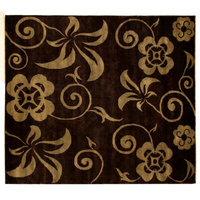 Metropolitan Hand Knotted Wool Brown/Light Blue Area Rug Rug Size: Rectangle 10 x 14