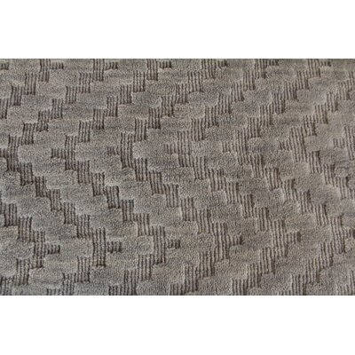 Demani Hand Woven Wool Gray Area Rug Rug Size: Rectangle 14 x 18