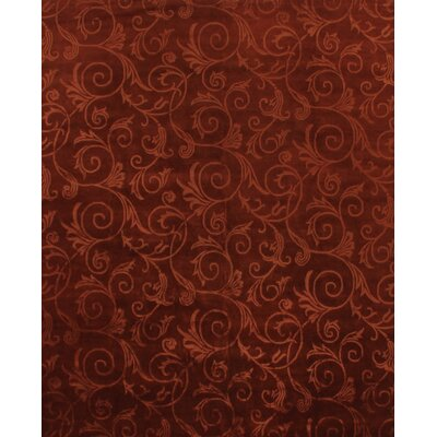 Super Tibetan Hand Knotted Wool/Silk Copper/Rust Area Rug Rug Size: Rectangle 9' x 12'