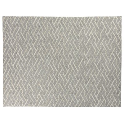 Berlin Silver/Ivory Area Rug Rug Size: Rectangle 12 x 15