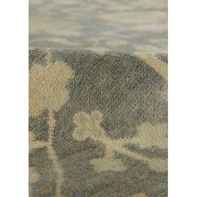 Oushak Hand Knotted Wool Blue/Gray Area Rug Rug Size: Rectangle 6 x 9