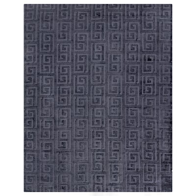 Samara Hand-Woven Silk Blue Area Rug Rug Size: Rectangle 8 x 10
