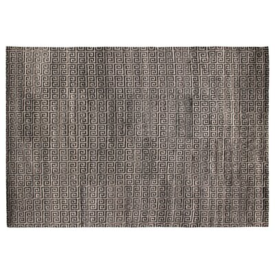 Hand-Knotted Wool/Silk Gray Area Rug Rug Size: Rectangle 8 x 10