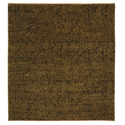Metropolitan Hand Knotted Wool Sage Green Area Rug Rug Size: Rectangle 9 x 12