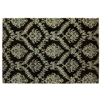Metropolitan Hand Knotted Wool Brown/Light Blue Area Rug Rug Size: Rectangle 6 x 9