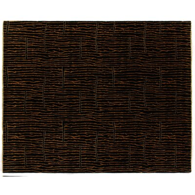 Metropolitan Hand-Knotted Wool Black/Gold Area Rug