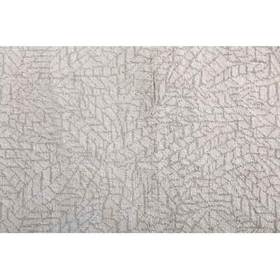 Mosaic Hand Knotted Wool/Silk Ivory Area Rug Rug Size: Rectangle 8 x 10
