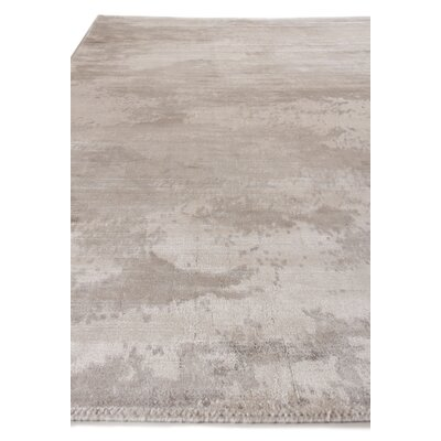 Koda Hand-Woven Silk Silver/Ivory Area Rug Rug Size: Rectangle 8 x 10