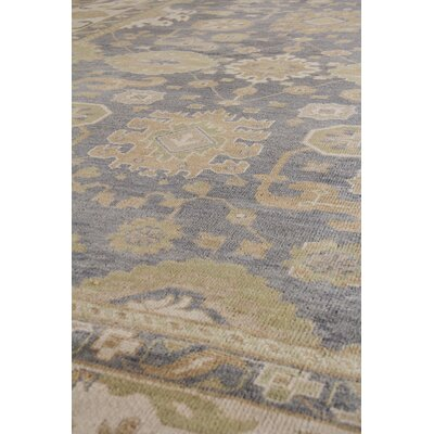 Ousha Hand-Knotted Wool Dark Gold/Ivory Area Rug Rug Size: Rectangle 6 x 9