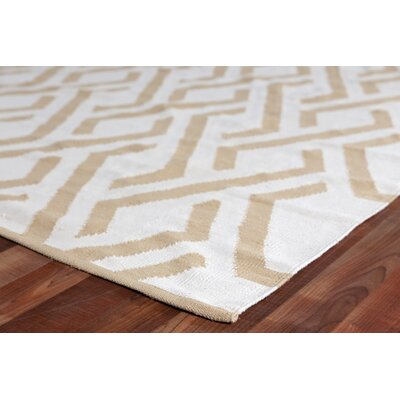 Hand-Woven Wool Caramel/Ivory Area Rug Rug Size: Rectangle 12 x 15