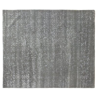 Super Tibetan Hand-Knotted Gray/Beige Area Rug