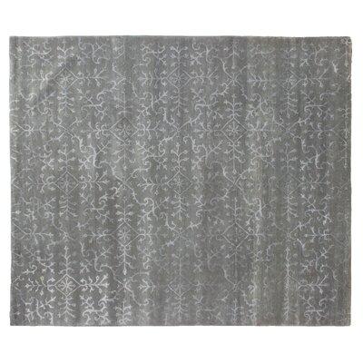 Super Tibetan Hand-Knotted Gray/Beige Area Rug