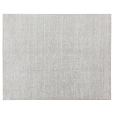 Duo Hand-Loomed Wool/Silk White/Beige Area Rug Rug Size: Rectangle 6 x 9