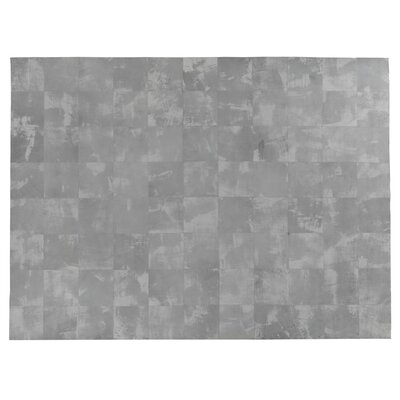 One-of-a-Kind Capri Leather Hand Woven Gray Area Rug Rug Size: Rectangle 13'6