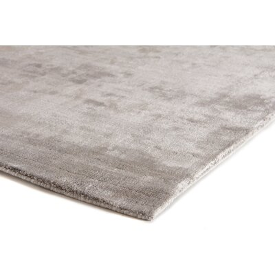 Purity Hand-Woven Silver Area Rug Rug Size: Rectangle 10 x 14
