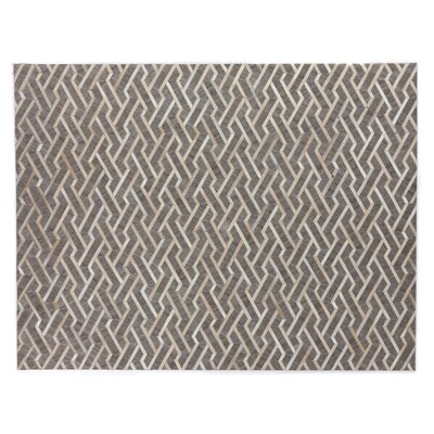 Berlin, Leather/Art Silk, Beige/Ivory/Multi (136x176) Area Rug
