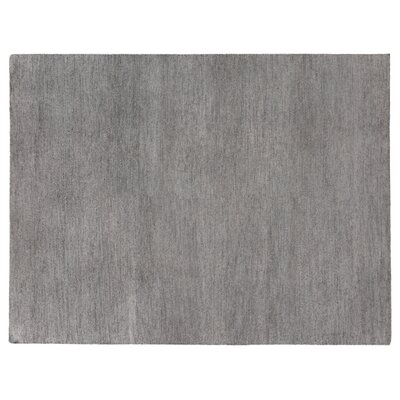 Perry Hand-Knotted Silk Gray Area Rug Rug Size: Rectangle 8 x 10