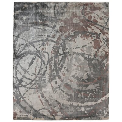 Koda Hand-Woven Gray/Brown Area Rug Rug Size: Rectangle 9 x 12