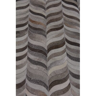 Natural Hide Hand Woven Cowhide Gray Area Rug Rug Size: Rectangle 5 x 8