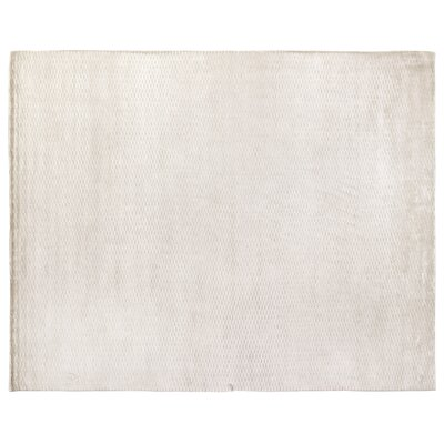 Dove Embossed Hand-Woven Silver Area Rug Rug Size: Rectangle 9 x 12