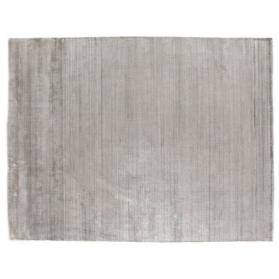 Purity Hand-Woven Silver Area Rug Rug Size: Rectangle 14 x 18