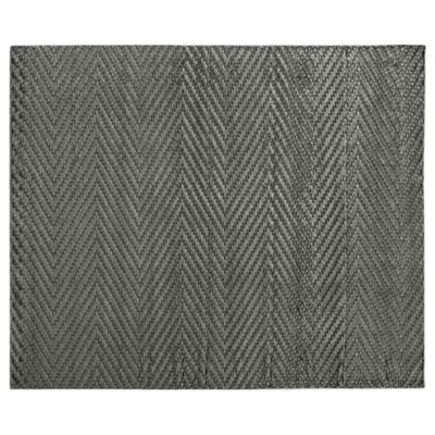Kingsley Hand-Knotted Silk Dark Gray Area Rug Rug Size: Rectangle 8 x 10