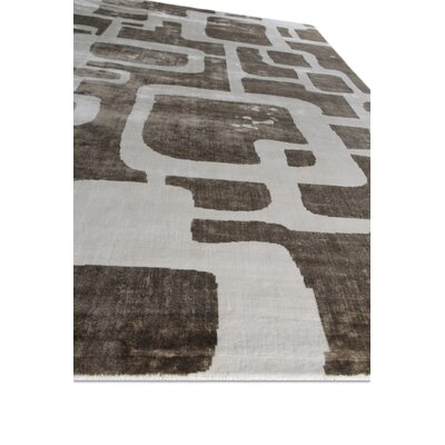 Koda Silk Brown/White Area Rug Rug Size: Rectangle 8 x 10