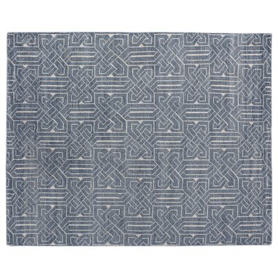 Prague Hand-knotted Indigo Area Rug Rug Size: Rectangle 9 x 12