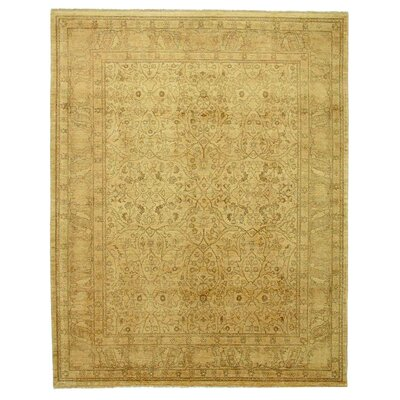 Polonaise Hand Knotted Wool Beige/Brown Area Rug