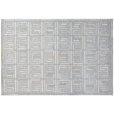 Berlin Silver/Ivory Area Rug Rug Size: Rectangle 96 x 136