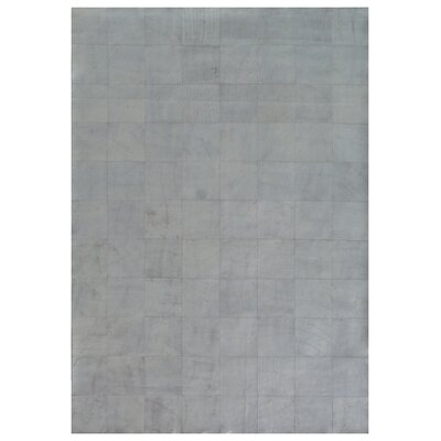 Capri Hand Woven Leather Silver Area Rug