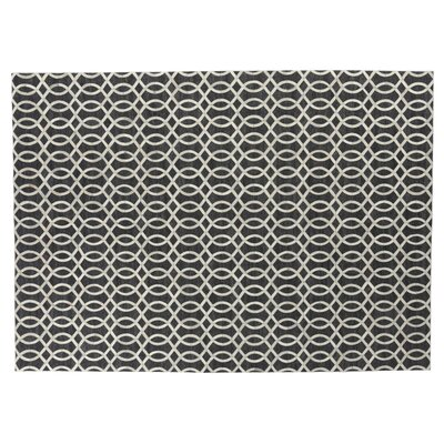 Berlin Charcoal/Ivory Area Rug Rug Size: Rectangle 12 x 15