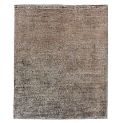 Antique Weave Hand-Knotted Camel Area Rug Rug Size: Rectangle 10 x 14