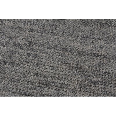 Perry Hand-Knotted Silk Gray Area Rug Rug Size: Rectangle 10 x 14