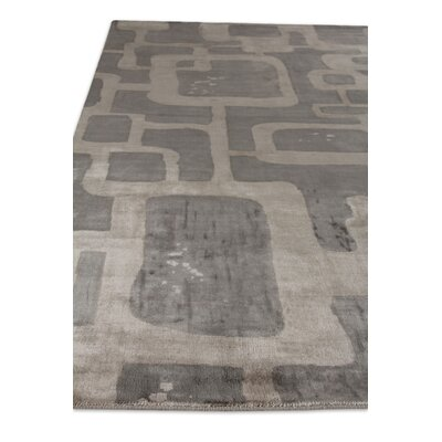 Koda Hand-Woven Silk Gray Area Rug Rug Size: Rectangle 9 x 12