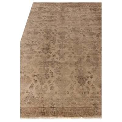 Lisbon Hand-Knotted Ivory Area Rug Rug Size: Rectangle�8' x 10'