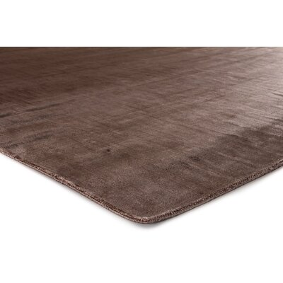 Smooch Carved Hand-Woven Brown Area Rug Rug Size: Rectangle 9 x 12