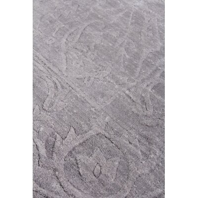 Iris Hand Woven Silk Light Silver Area Rug Rug Size: Rectangle 10 x 14