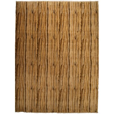 Metropolitan Hand-Knotted Wool Gold/Brown Area Rug Rug Size: Rectangle 9 x 10