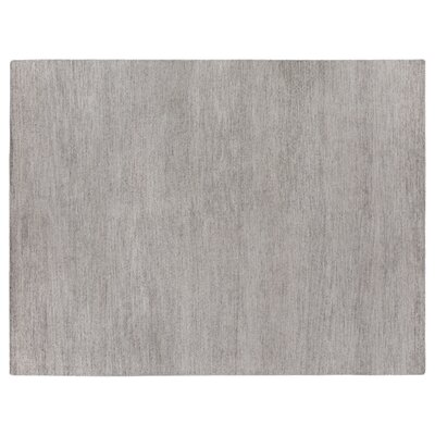 Perry Hand-Knotted Silk Gray Area Rug Rug Size: Rectangle 14 x 18