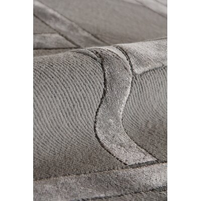 Hand-Knotted Wool Gray Area Rug Rug Size: Rectangle 9 x 12