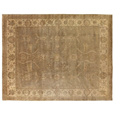 Traditional Hand-Knotted Wool Camel Area Rug
