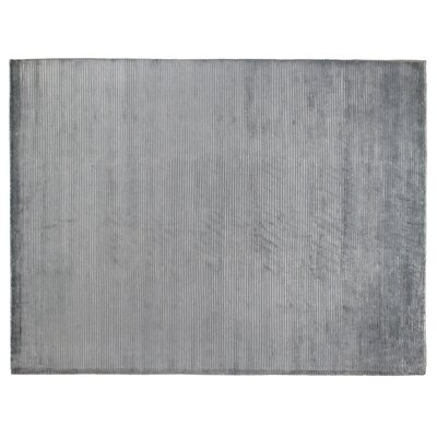 Contemporary Hand-Knotted Wool/Silk Light Blue Area Rug