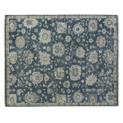 Museum Hand-Knotted Navy/Beige Area Rug Rug Size: Rectangle 14 x 18