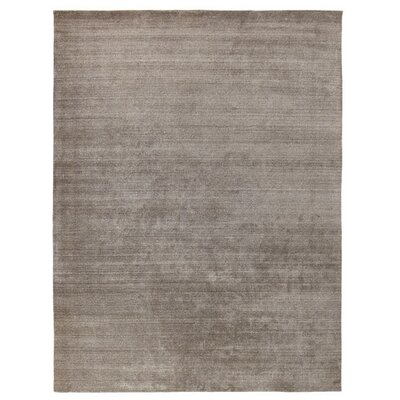 Sanctuary Hand Woven Silk Gray Area Rug Rug Size: Rectangle 14 x 18