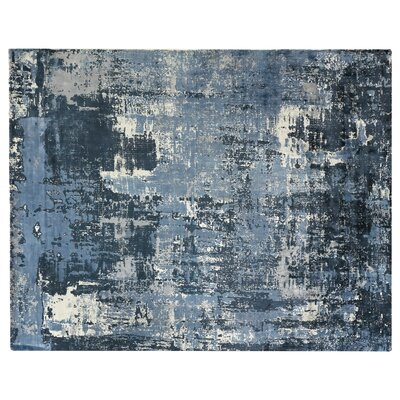 Koda Hand-Woven Blue Area Rug Rug Size: Rectangle 9 x 12