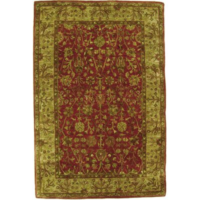 Tabriz Hand Knotted Wool Rust/Light Gold Area Rug