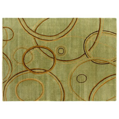 Metropolitan Hand-Knotted Wool Brown/Green Area Rug Rug Size: Rectangle 9 x 12