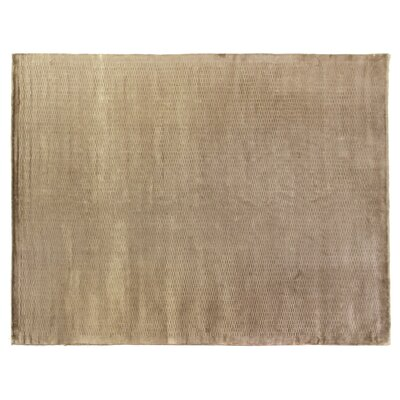 Dove Embossed Hand-Woven Beige Area Rug Rug Size: Rectangle 6 x 9